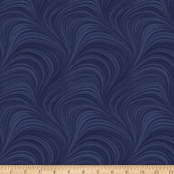 Wave Texture Navy Fabric