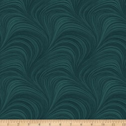 Wave Texture Teal Fabric