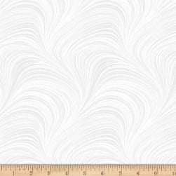 Wave Texture White Fabric