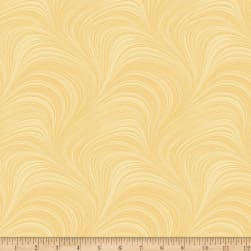 Wave Texture Yellow Fabric