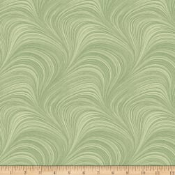 Wave Texture Green Fabric