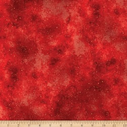 Kanvas New Hue Basic Metallic Red/Gold Fabric