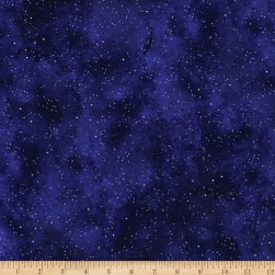 Kanvas New Hue Basic Metallic Navy/Silver Fabric