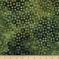 Bali Dots Great Batiks Emerald