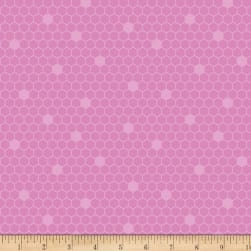 Contempo Front Porch Honeycomb Pink Fabric