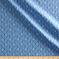 Kanvas Blue Brilliance Shimmer Basket Weave Metallic White