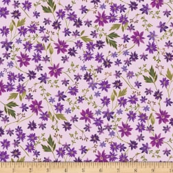 Kanvas Enchanted Mini Floral Orchid Metallic Fabric