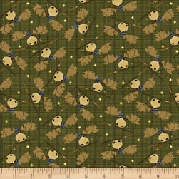Moose Lake Moose Toss Green Fabric