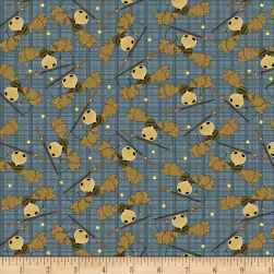 Moose Lake Moose Toss Blue Fabric