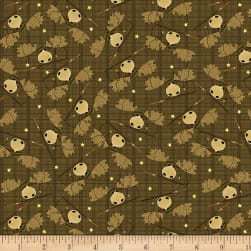 Moose Lake Moose Toss Brown Fabric