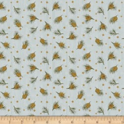 Moose Lake Pine and Stars Denim Fabric