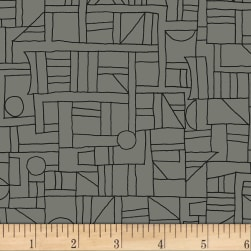 Contempo Printology Sketch Gray Fabric