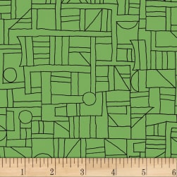 Contempo Printology Sketch Green Fabric