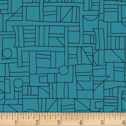 Contempo Printology Sketch Teal Fabric