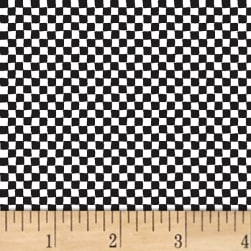 Contempo Printology Check Board Black/White Fabric