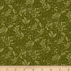 Autumn Leaves Garden Vine Sage Fabric