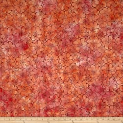 Anthology Batik Sunshine Flower Apricot Fabric