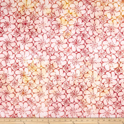 Anthology Batik Sunshine Flower Flirt Fabric