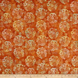 Anthology Batiks Ditzy Daisy Turmeric Fabric