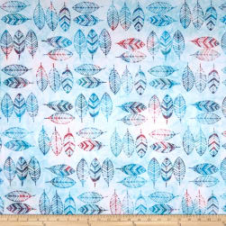 Anthology Batik Feathers Crystal Fabric