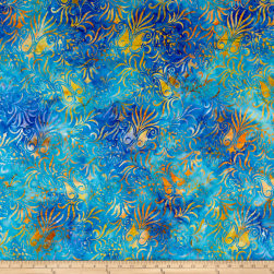 Anthology Batiks Blue Flower Venus Multi