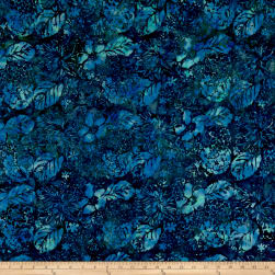 Anthology Batiks Garden Deep Sea Fabric