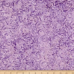 Anthology Batiks Scrolls Lavender Fabric
