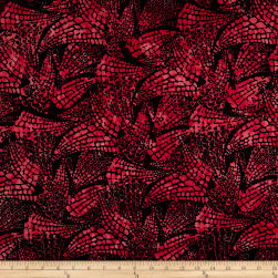 Northcott Croc Red Fabric