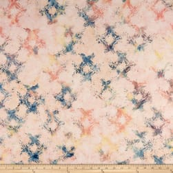 Anthology Batiks Scratched Plaid Cotton Candy Fabric