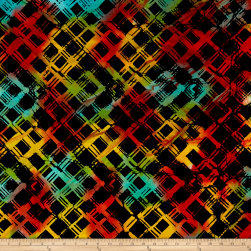 Anthology Batiks Criss-Cross Plaid Rainbow Fabric