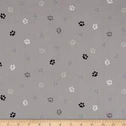 Stof ABCDairies Paws Grey Fabric