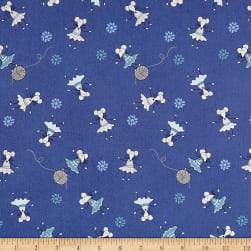 Stof ABCDairies Dancing Mice Royal Blue Fabric