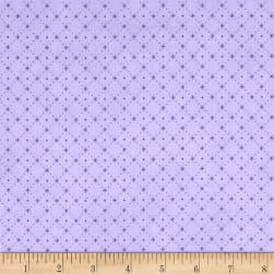 Stof Lavender Story Dot Grid Lilac Fabric