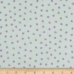 Stof Lavender Story Tiny Flowers Purple/Mint Fabric