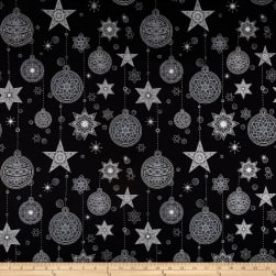 Stof Amazing Stars Ornaments & Stars Metallic Silver/Black