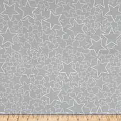 Stof Snow House Dotted Stars Beige Fabric