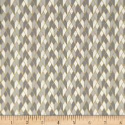 Stof Fabrics Denmark Starlight Grid On Metallic Gold/Royal