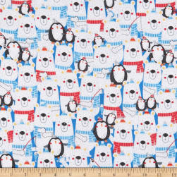 Polar Pals 2 Stacked Polar Pals Flannel White