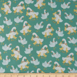 Ducky Tales Mother Duck Jade Fabric