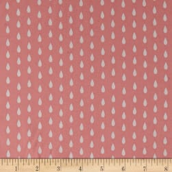 Ducky Tales Raindrops Pink Fabric