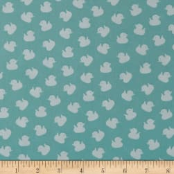 Ducky Tales Monotone Ducks Light Jade Fabric