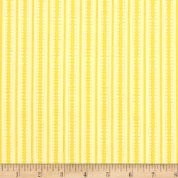 Basically Hugs Stripe Yellow Fabric