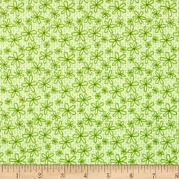 Basically Hugs Daisy Green Fabric