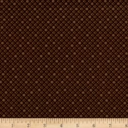 Basically Hugs Cross Stitch Dk. Brown Fabric