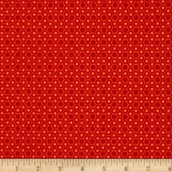 Basically Hugs Hexies Red Fabric