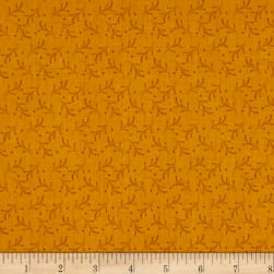 Bear Essentials 3 Dotted Vines Gold Fabric