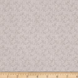 Bear Essentials 3 Dotted Vines Silver Fabric