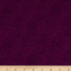 Bear Essentials 3 Maze Violet Fabric