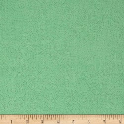 Bear Essentials 3 Swirl Dots Mint Fabric