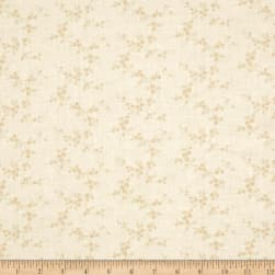 Apple Cider 16 Floral Vine Spaced White Fabric